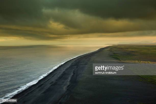 Black sea beach in morning summer