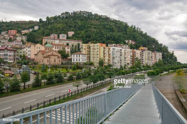 Black Sea Coast Highway passing Giresun City centre in Turkey