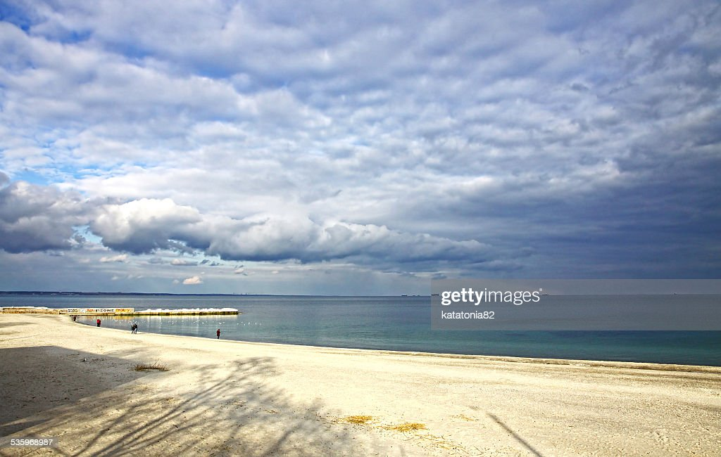 Black sea coast in winter : Stock Photo