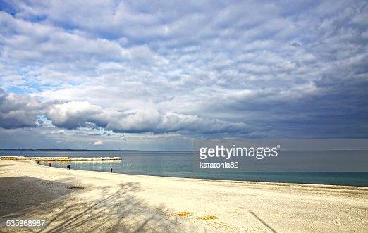 Black sea coast in winter : Stock Photo