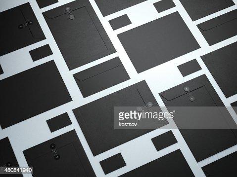 Black set of branding elements : Stock Photo