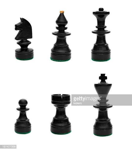 Black set of chess pieces