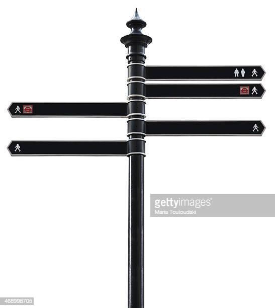 Black sign