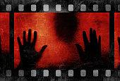 black silhouette and film strip