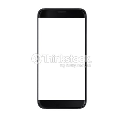 Black Smartphone with blank screen : Stock Photo