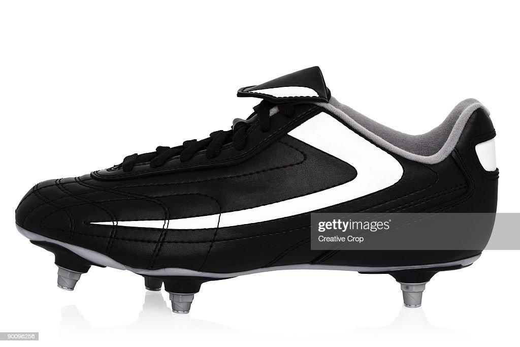 Black soccer / football boots