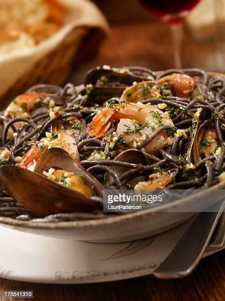 Black Spaghetti With Fresh Seafood