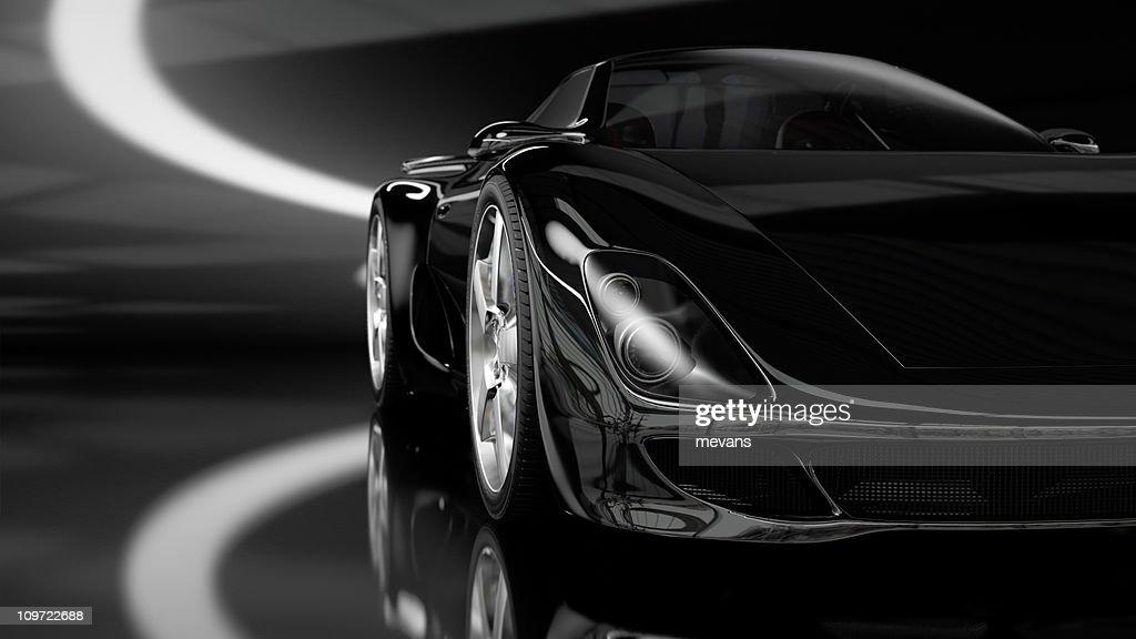 Black Sports Car : Stock Photo