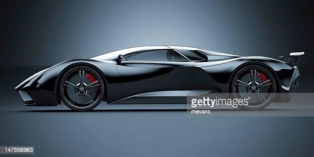 ブラックのスポーツ車