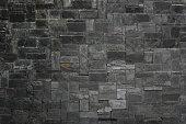 Black stone slate texture background