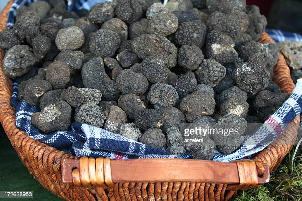 Black summer truffles