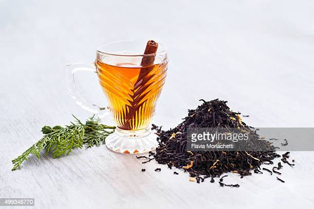 Black tea with cinnamon