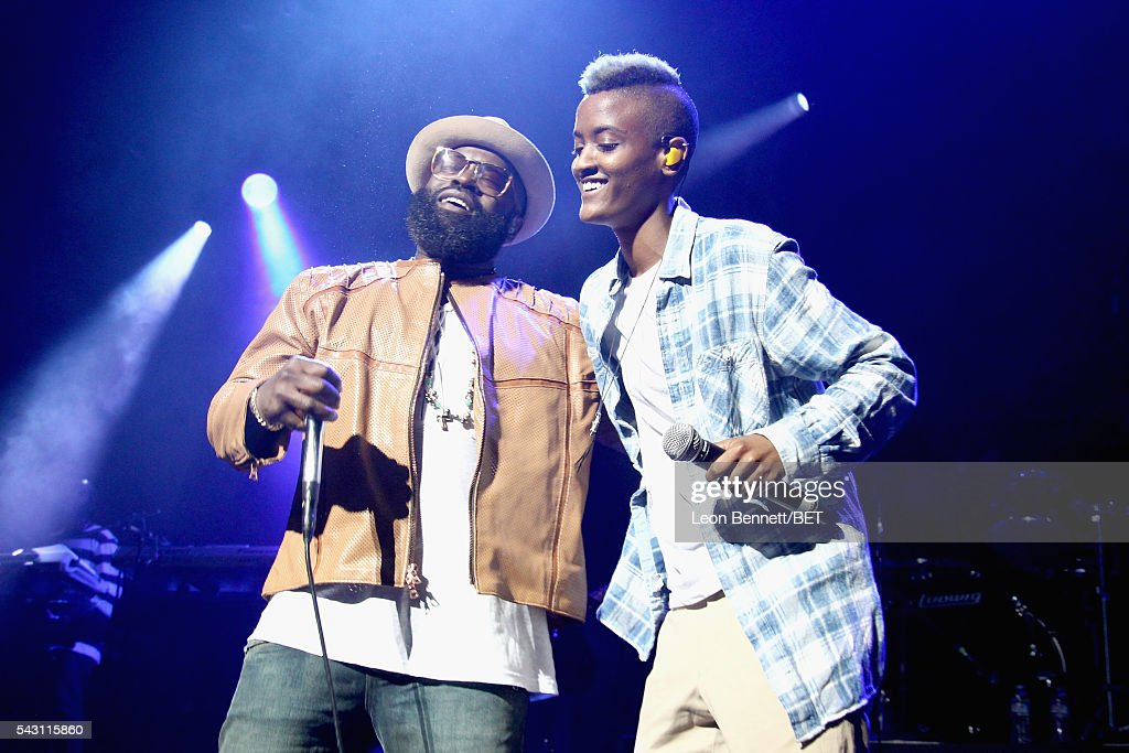 MC Black Thought (L) of The Roots and Syd tha Kyd of The Internet perform onstage during The Novo Late Night concert during the 2016 BET Experience on June 25, 2016 in Los Angeles, California.