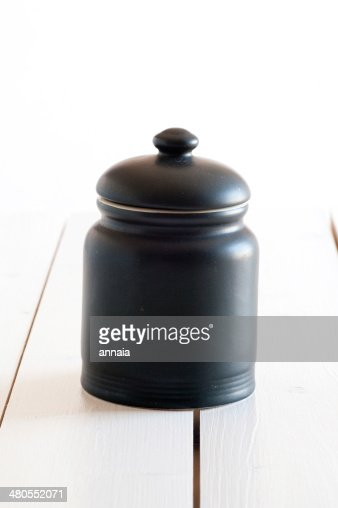 black tin : Stock Photo