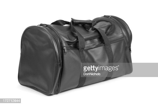 Black Travel Bag Isolated on White