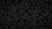 Black triangles extruded surface. Abstract 3D rendering background