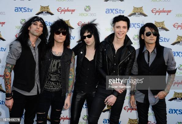 Black Veil Brides arrive at the 5th Annual Revolver Golden Gods Award Show at Club Nokia on May 2 2013 in Los Angeles California