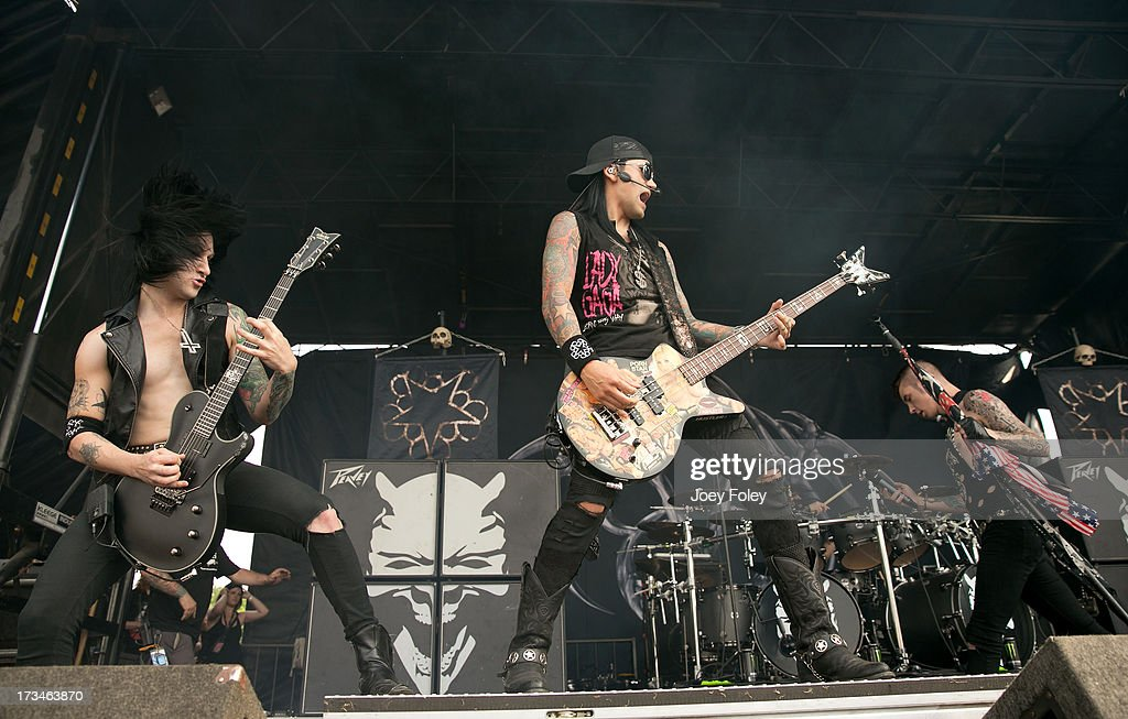 Black Veil Brides performs onstage during the Vans Warped Tour 2013 at Klipsch Music Center on July 3, 2013 in Noblesville, Indiana.