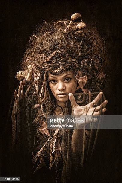 Black Voodoo Queen portrait - IV