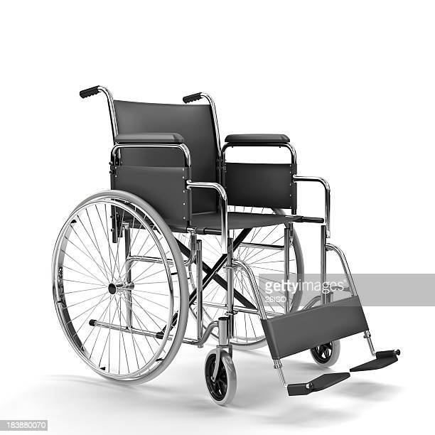 Black Wheelchair on White Background (XXXL)