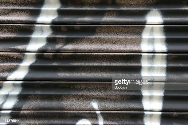 Black & White Graffiti on Metal