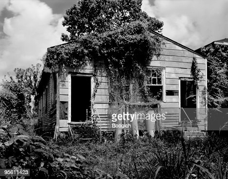 Black White Photograph Of Post Katrina Home New Orleans