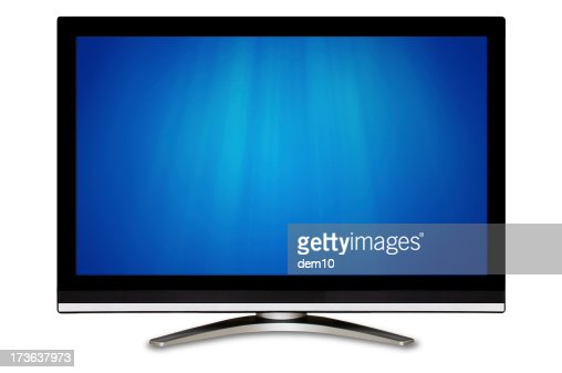 Black wide screen television