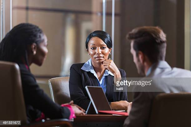 Black woman in a business meeting