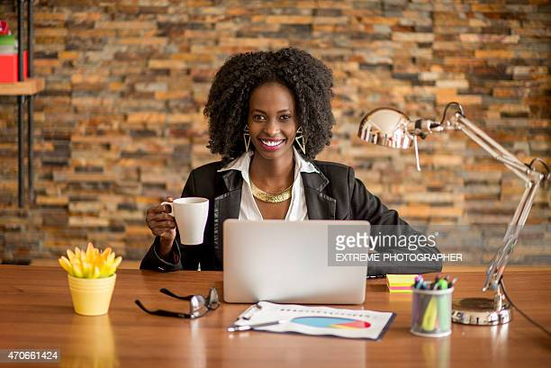 Black woman in the office