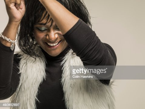 Black woman laughing : Stock Photo