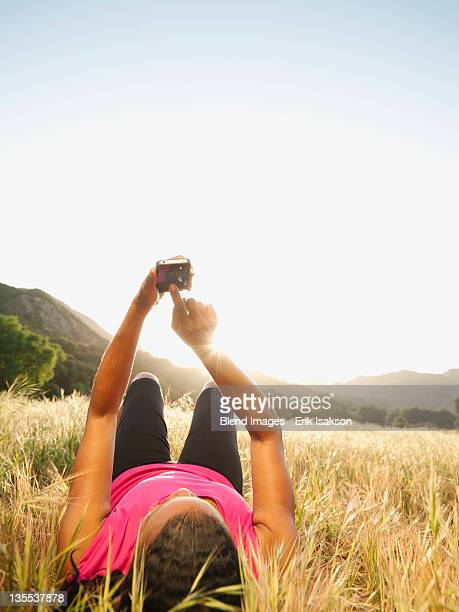 Mature Woman Holiday On Phone Stock Photos and Pictures ...
