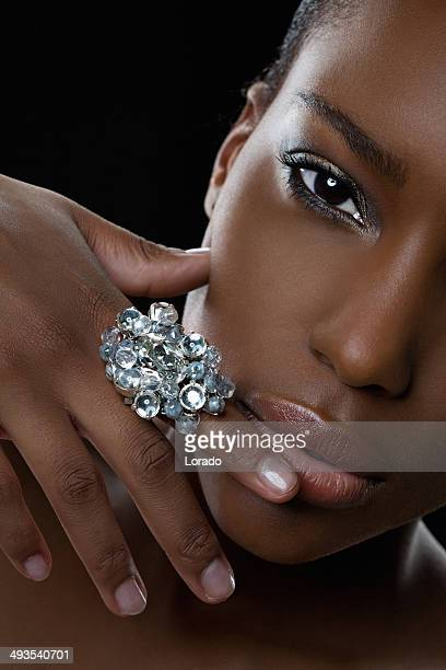 black woman posing with luxury ring