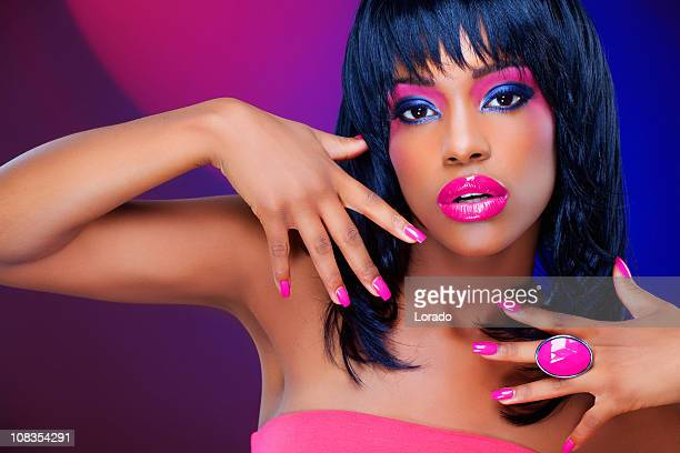 black woman showing nails