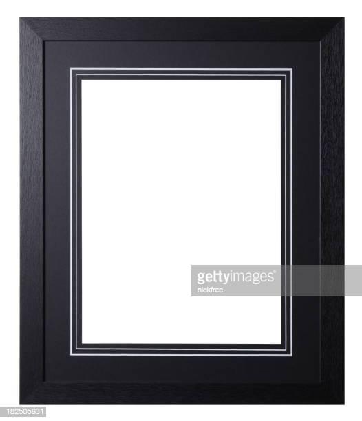 黒い木製のフレームに装着基板