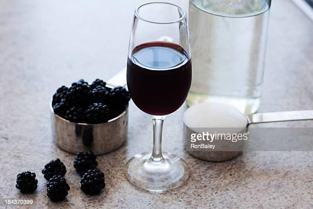 Blackberry licor en las materias primas