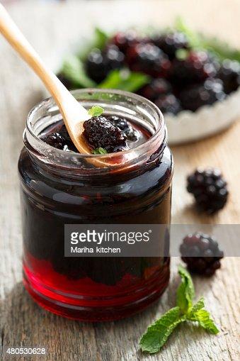 Blackberry marmalade : Stock Photo
