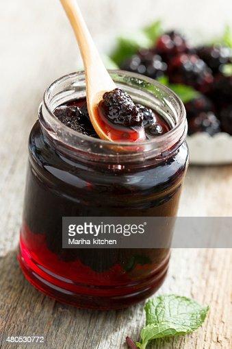 Blackberry marmalade : Bildbanksbilder