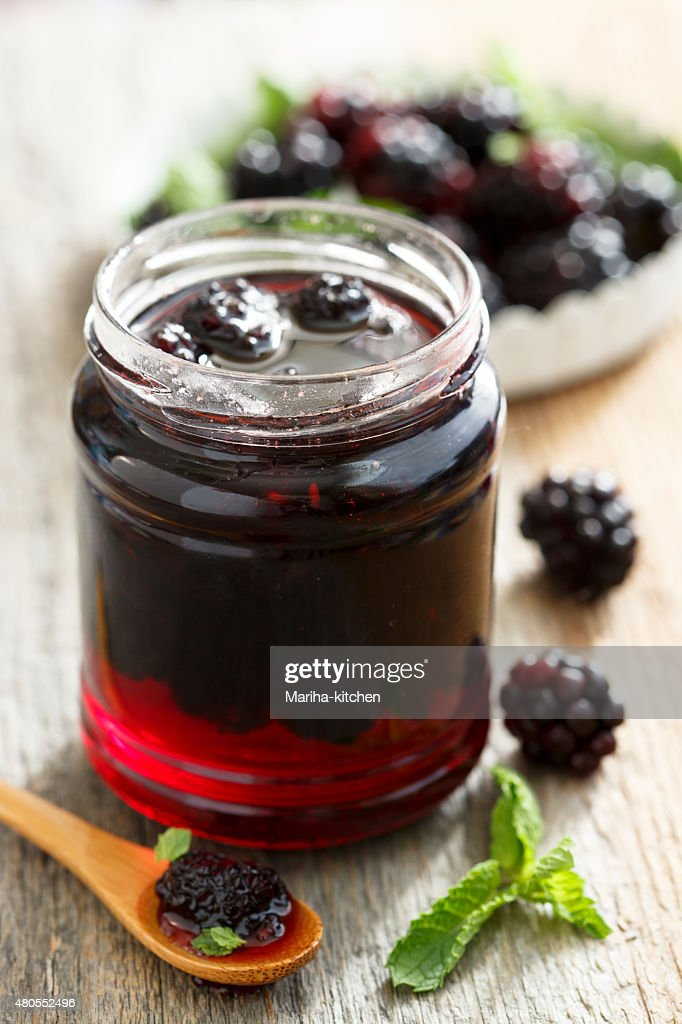 Blackberry marmalade : Stock Photo