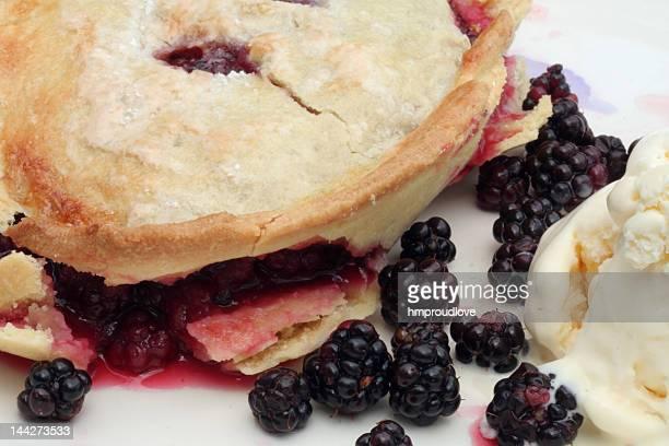 Blackberry Torta con gelato