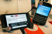 BlackBerry Z10 and BlackBerry Bold are offered for sale at an ATT store on March 28 2013 in Chicago Illinois The Z10 has been selling above analysts...