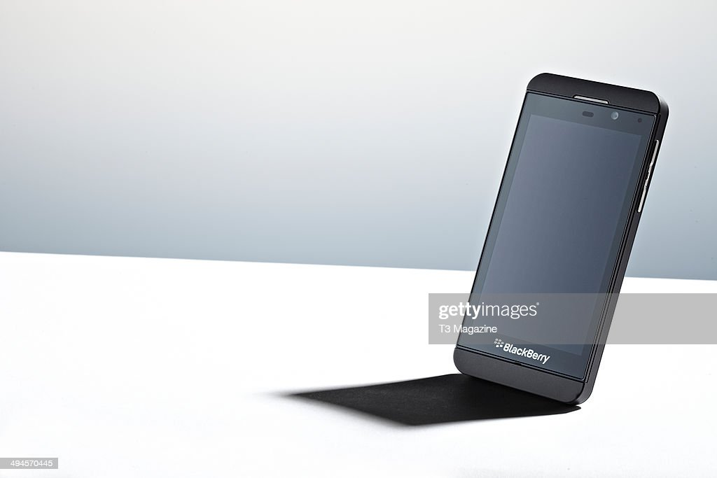 A Blackberry Z10 smartphone photographed on a white background taken on September 17 2013