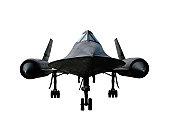 A-12 Blackbird spy plane isolated
