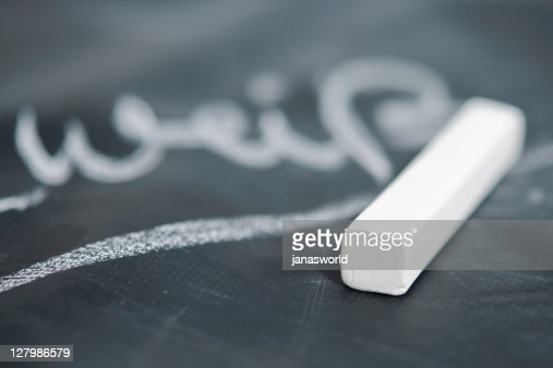 Blackboard and chalk : Stock-Foto