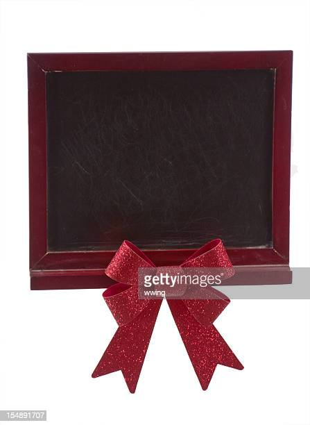 Tableau noir et rouge Bow