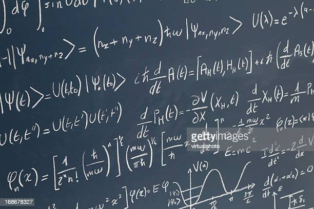 Tafel mit equations