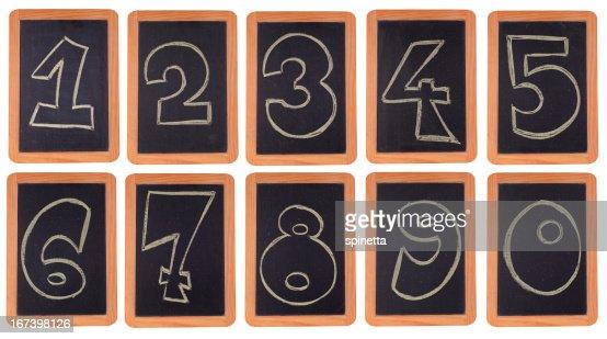 Blackboard numbers set : Stock Photo