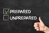 Check box of prepared or unprepared