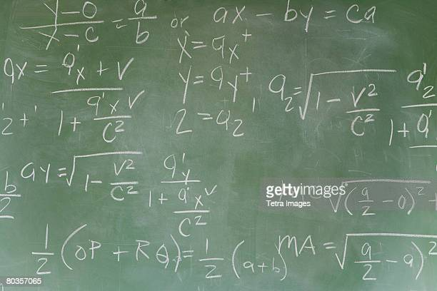 Blackboard with math equations