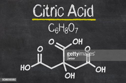 Blackboard with the chemical formula of Citric Acid : Stock Photo