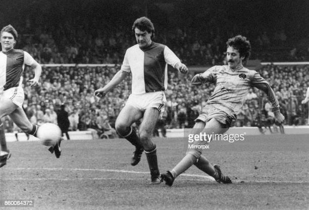 Blackburn 11 Newcastle Division Two League match at Ewood Park Friday 20th April 1984 Terry McDermott shoots against the bar